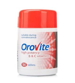 Orovite- high potency b and c vitamins. 100 tablets