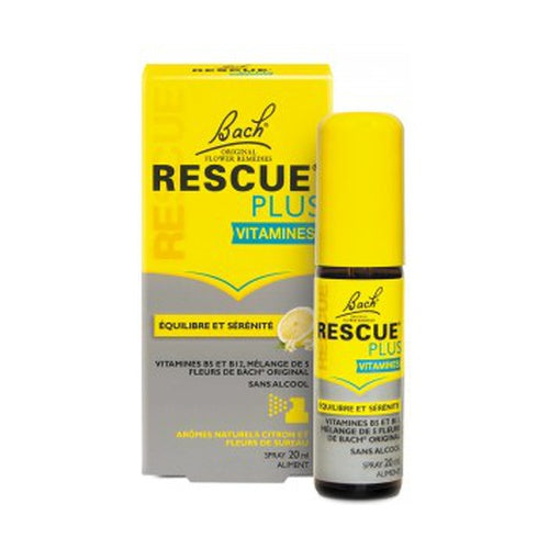 bach rescue remedy plus vitamins spray 20ml