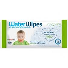 WaterWipes 99.9% Water Baby Wipes with Soapberry (60 wipes)