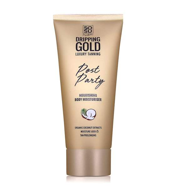 sosu dripping gold post party tan prolonging nourishing body moisturiser