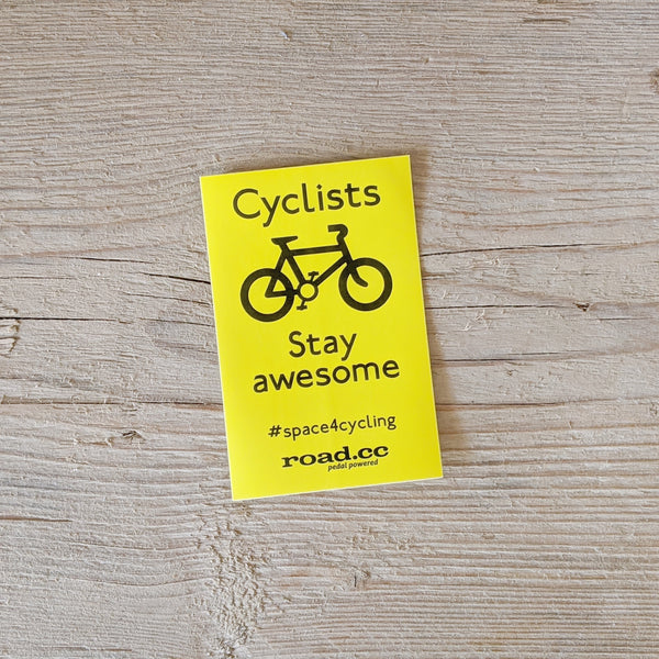 Cyclists Stay Awesome Mini Sticker