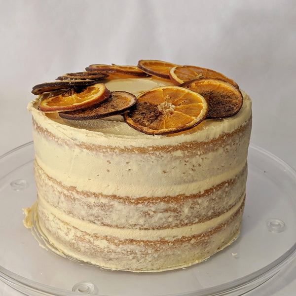 Blood Orange & Caramel Cake