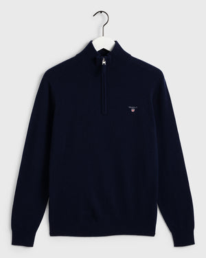 Quarter zip lambswool sweater