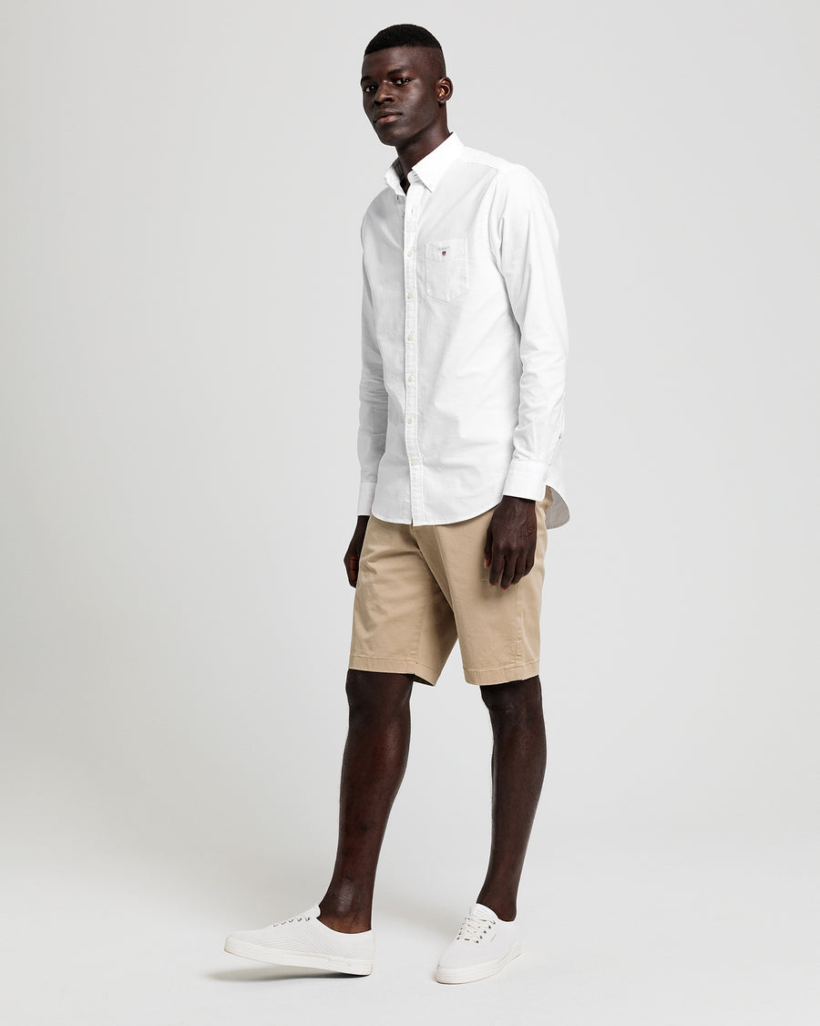 White Regular Fit Oxford Shirt - Gant