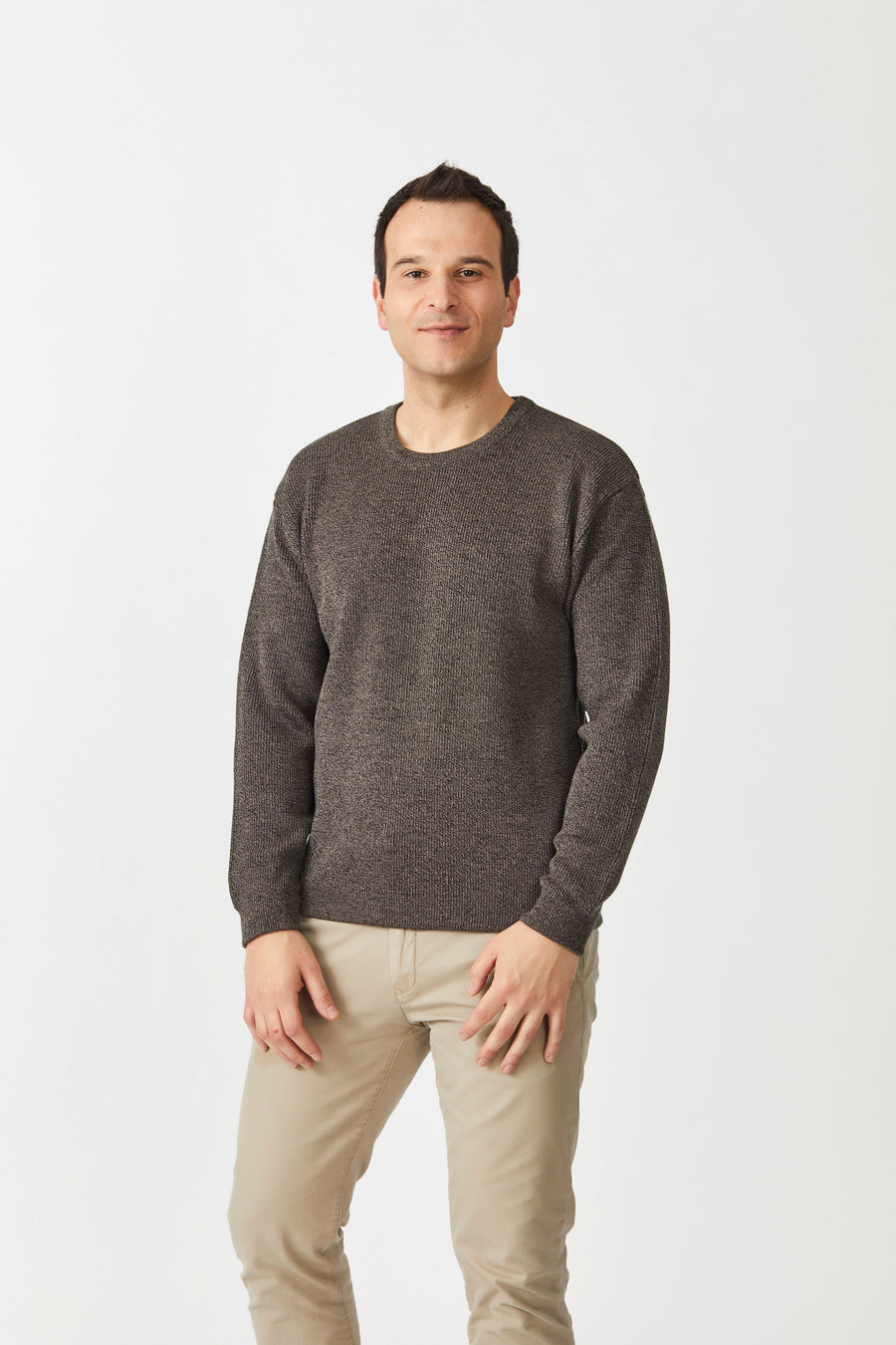 Fisherman's Rib Crew Neck Sweater