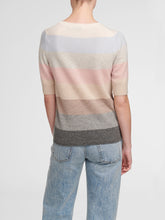 Load image into Gallery viewer, White and Warren Block Striped Cashmere Sweater