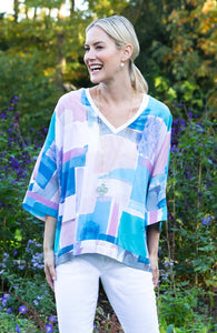 Tyler Boe Silk Watercolor Top