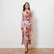 Load image into Gallery viewer, Donna Morgan Geometric Print Jersey Dress