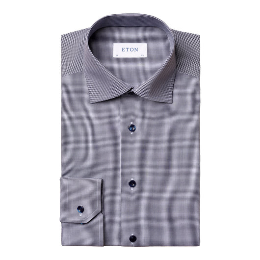 Eton Mini Gingham Poplin Dress Shirt