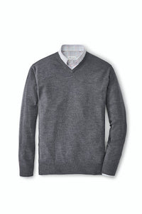 Peter Millar Crown Soft Merino Silk V Neck Sweater