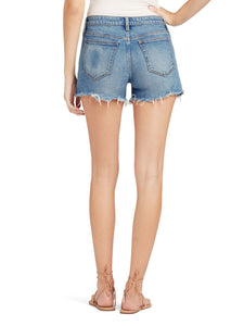 Joe`s Jeans Ozzie Short with Side Vent and Frayed Hem