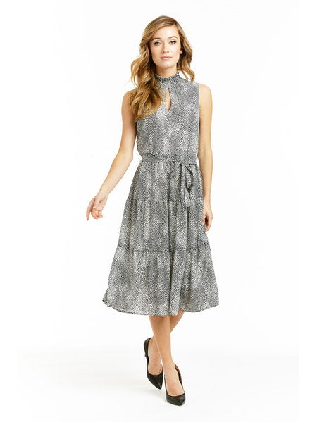 Drew Tiger Crepe Samantha Dress