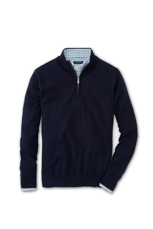 Peter Millar Crown Crafted Silk and Cashmere Quarter Zip
