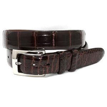 Load image into Gallery viewer, Torino Brown Alligator Belt