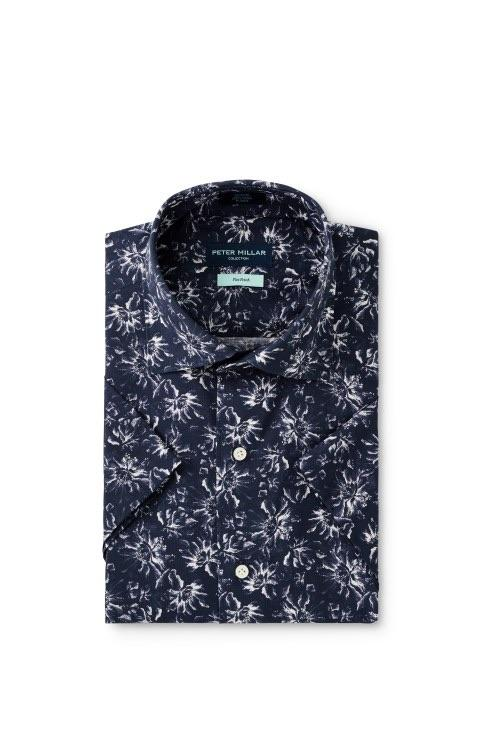 Peter Millar Collection Giardini Floral Short Sleeve Sport Shirt