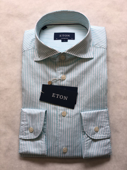 Eton Stripe Soft Sport Shirt