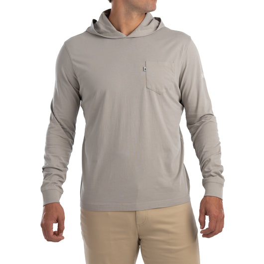 Johnnie-O Eller Long Sleeve Hooded Tee Shirt