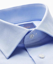 Load image into Gallery viewer, David Donahue Sky Blue Trim Fit Royal Oxford Dress Shirt