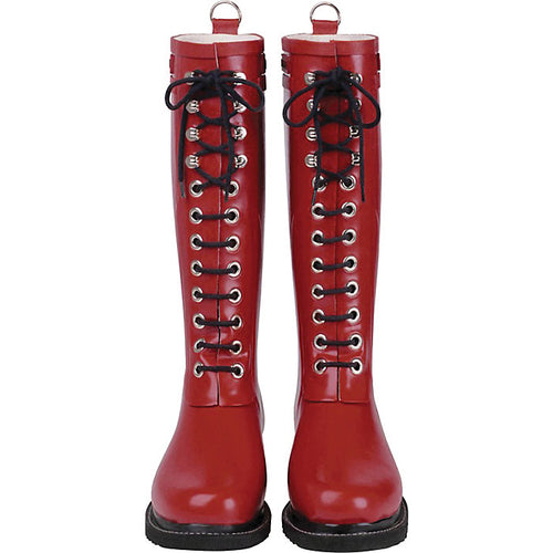Ilse Jacobsen Rub1 Tall Rubber Boots In Red