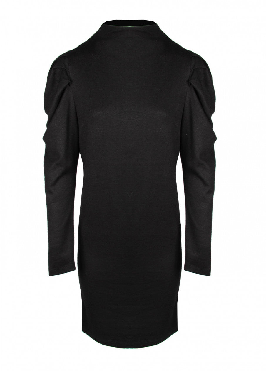 Lauren Vidal Knit Dress In Black