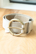 Load image into Gallery viewer, Brave Vika Leather Belt In Bone