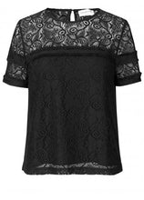 Load image into Gallery viewer, Rosemunde Short Sleeve Lace Blouse