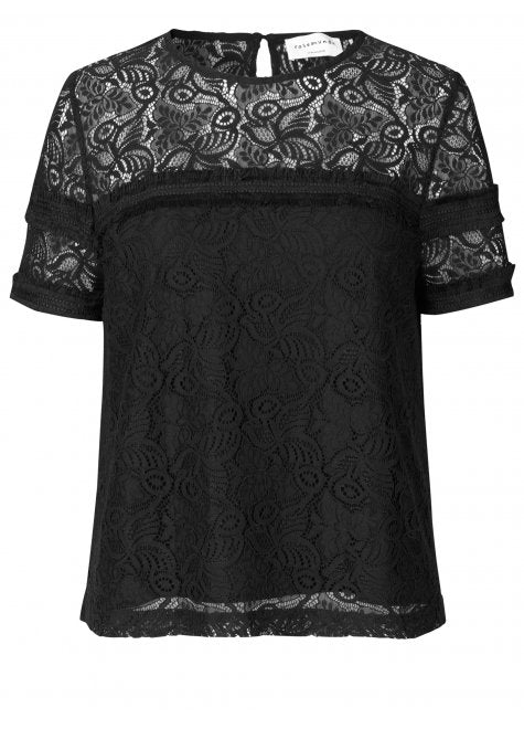 Rosemunde Short Sleeve Lace Blouse