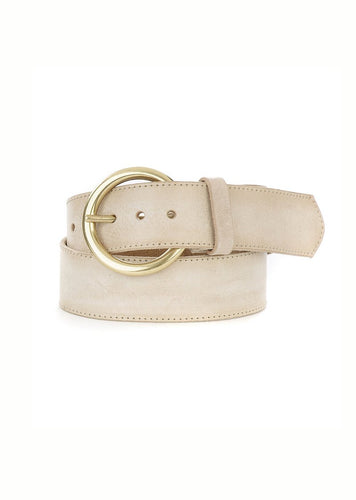 Brave Kasi Leather belt in bone