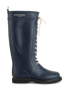 Ilse Jacobsen RUB1 Tall Rubber Boots in Dark Navy.