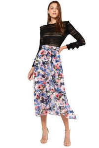 Misa Themis Skirt in Tie-Dye Floral