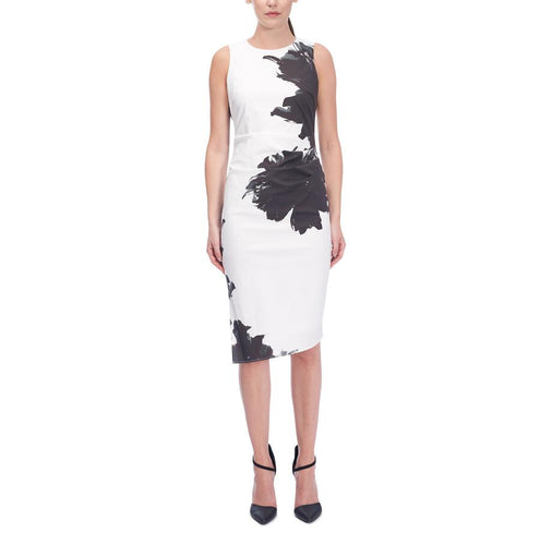 Iris Setlakwe Black and White Printed Sleeveless Dress