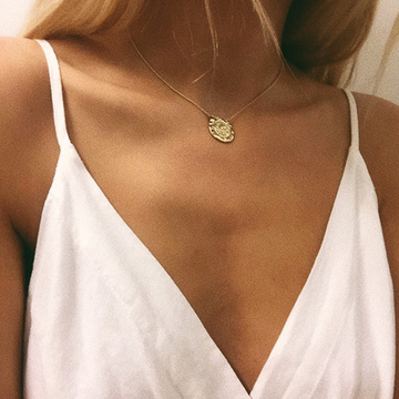 Pilgrim Marley gold coin necklace