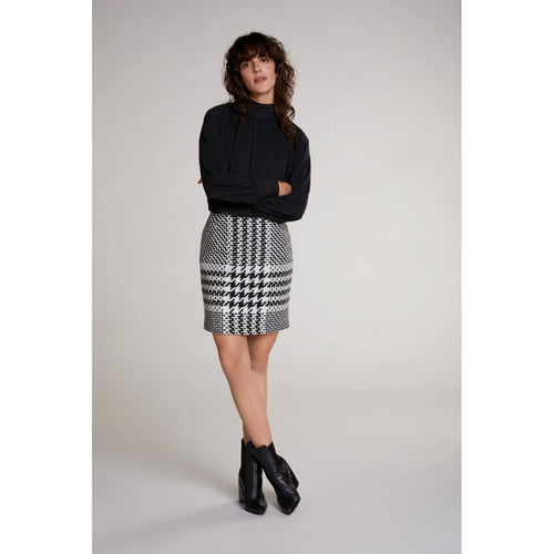 Oui Houndstooth Pencil Skirt