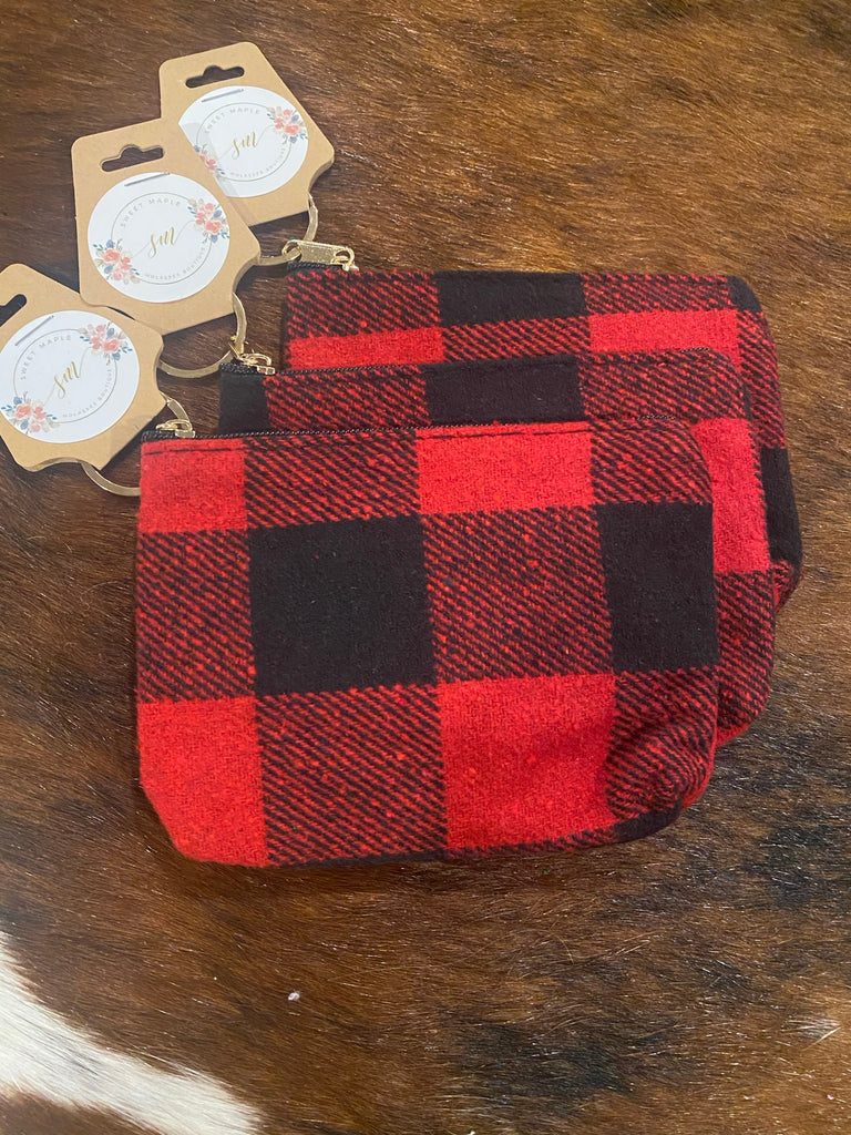 Buffalo Plaid Coin Purse