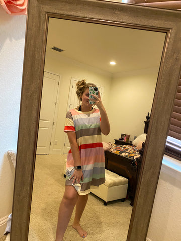 Rainbow Casual Dress