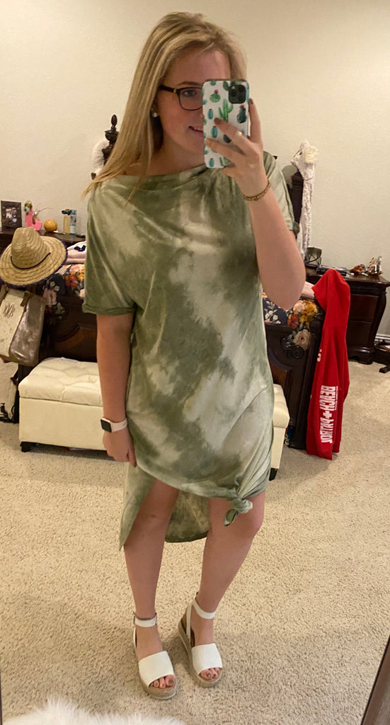 Green Tie Dye Dress