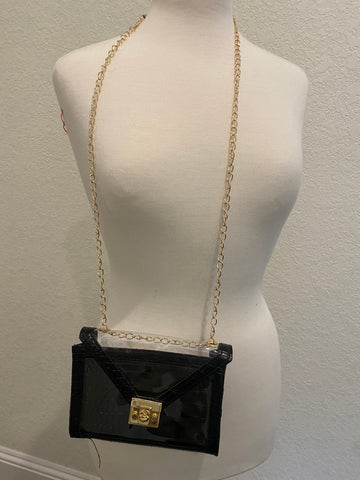 Transparent Studded Cross Body(Black)