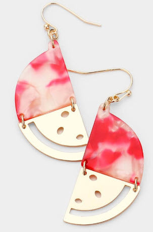 Sweet as a Watermelon Earrings