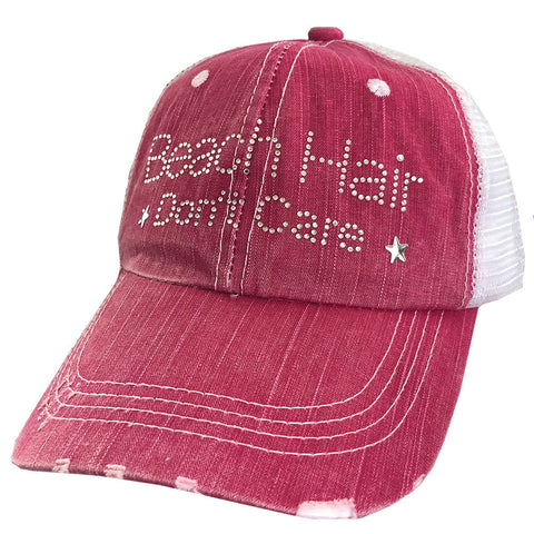 Beach Hair Don't Care Mesh Cap