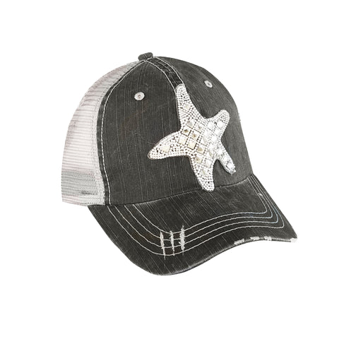 Crystallized Starfish Mesh Cap