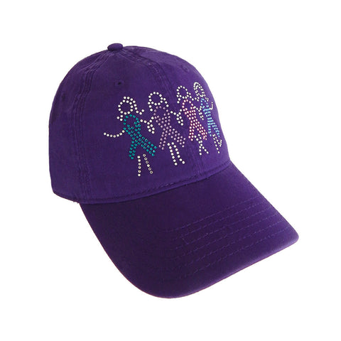 Cancer Awareness Girls Holding Hands Cap