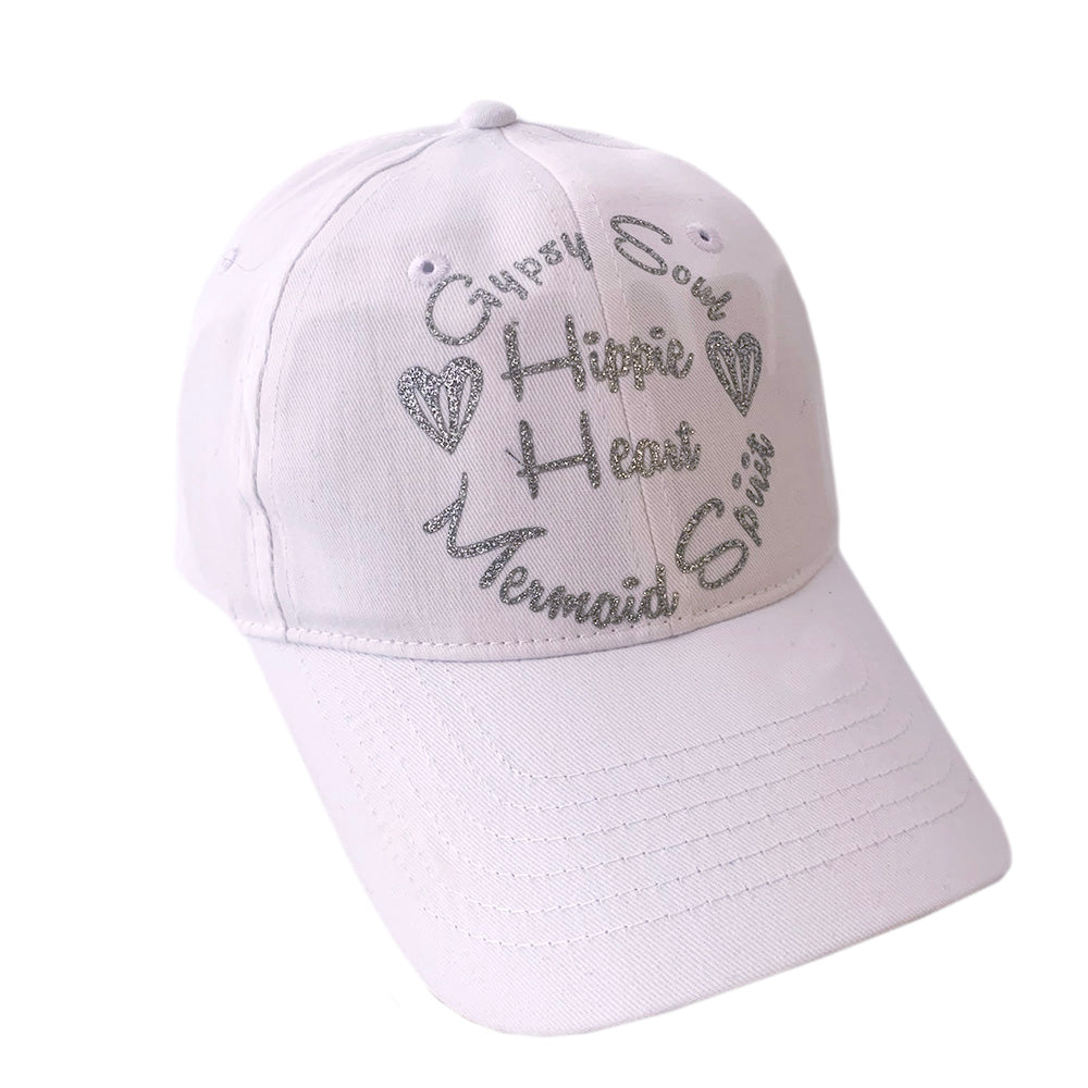 Mermaid Soul Hippie Heart Cap White