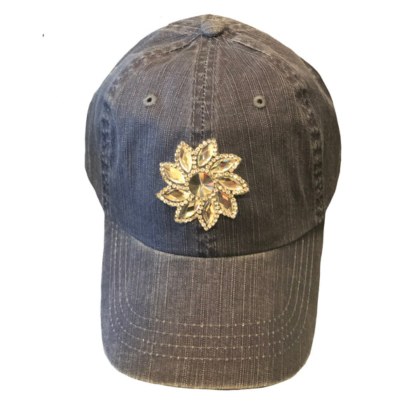 Small Crystal Flower Cap
