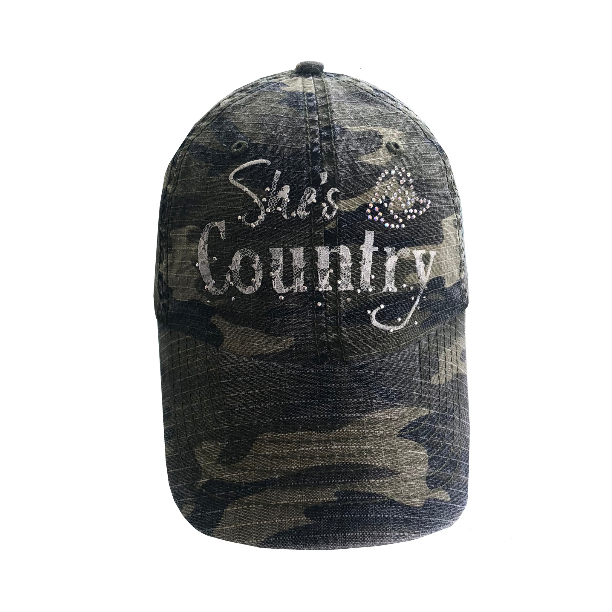 She's Country White Lace Cap