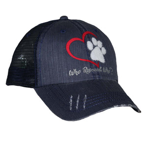 Red Heart Who Rescued Who Mesh Cap