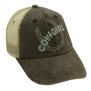 Cowgirl with Horseshoe Mesh Cap