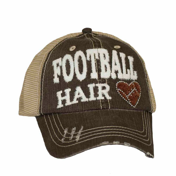 Football Hair Mesh Cap