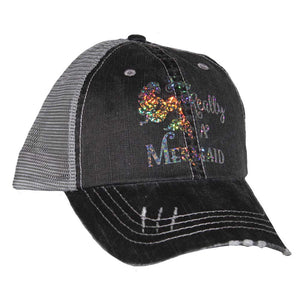 I'm Really A Mermaid Mesh Cap Black