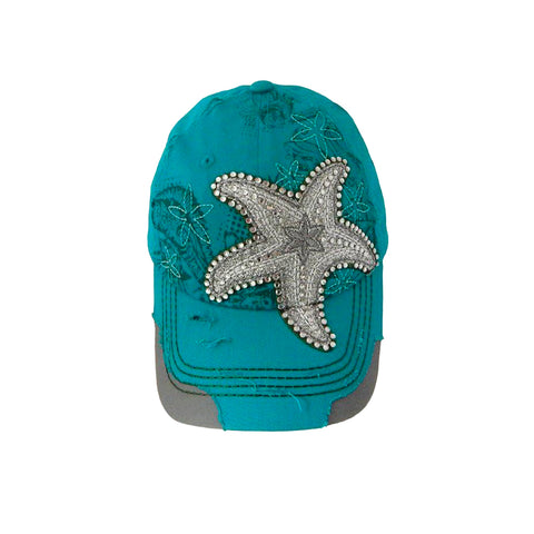 Metallic Starfish Cap