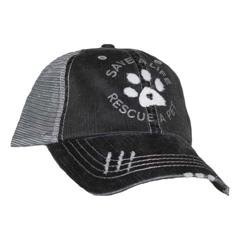 Save A Life Rescue Black and Grey Mesh Cap